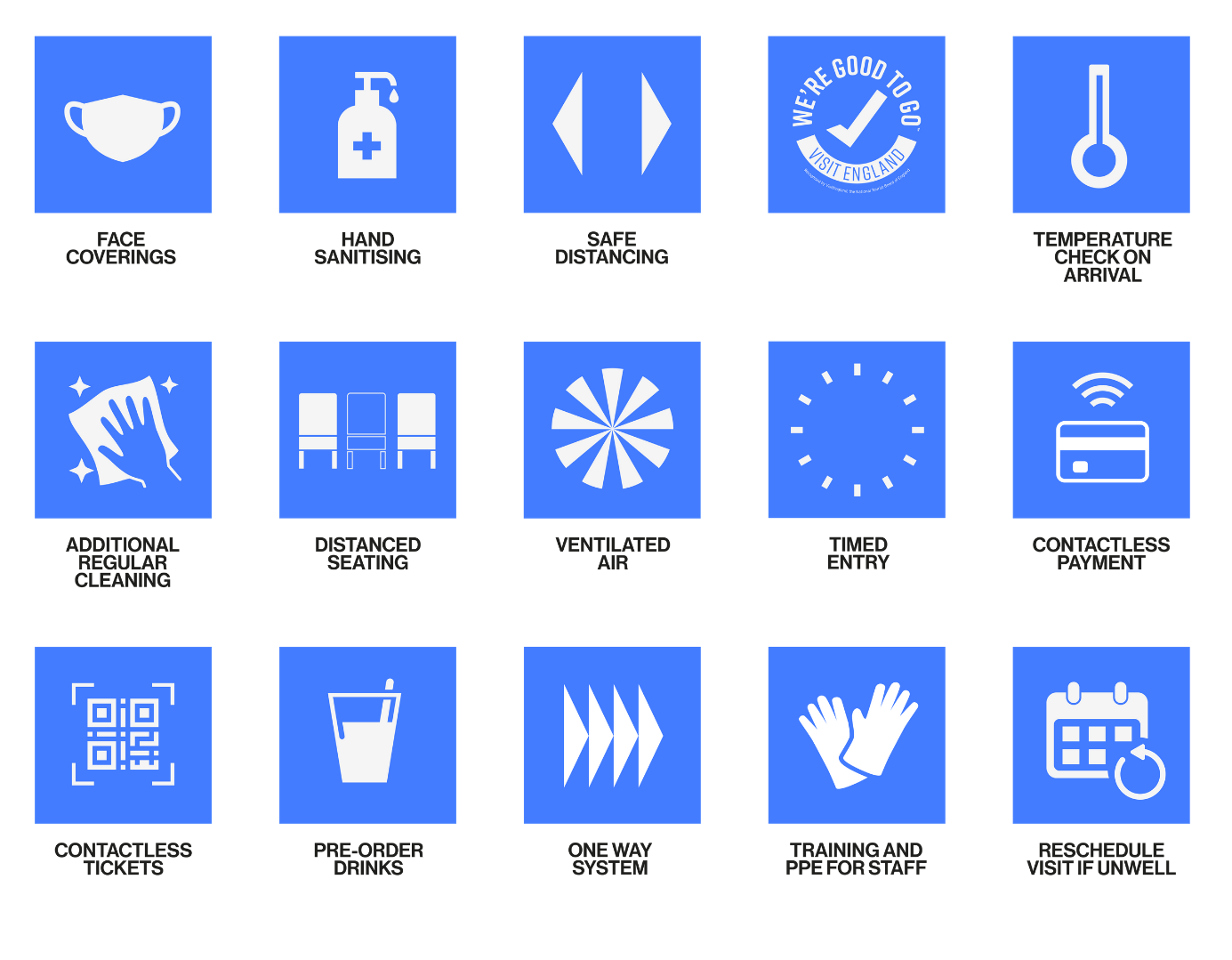 Image: Covid Safety Icons
